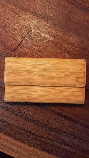 LOUIS VUITTON geldbörse portemonnaie long wallet epi leder gelb wie neu!