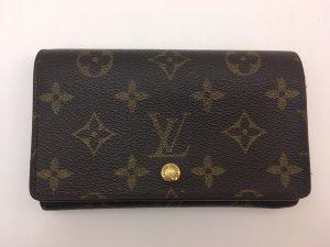 Louis Vuitton Portemonnee bruin Leer