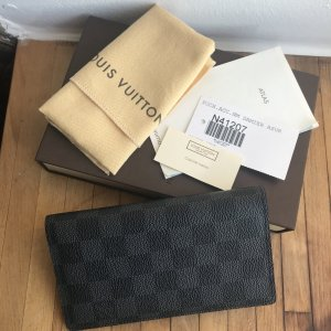 Louis Vuitton graphite long wallet