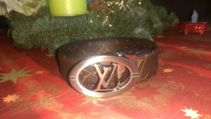 Louis Vuitton Leather Belt brown-black leather