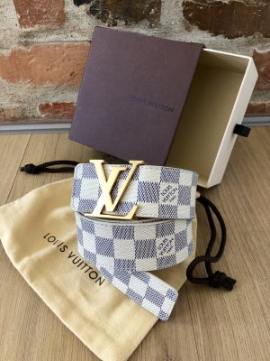 Louis Vuitton Canvas Belt natural white-dark blue