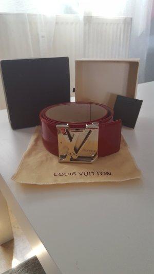 Louis Vuitton Tailleriem donkerrood