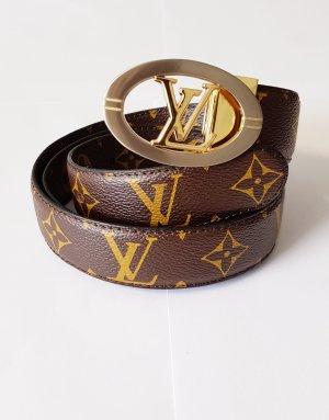Louis Vuitton Cinturón de cuero color bronce