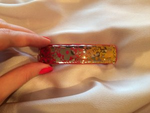 Louis Vuitton Hair Clip red-orange acetate