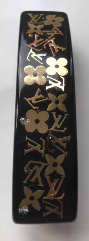 Louis Vuitton Hair Clip black-gold-colored