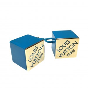 Louis Vuitton Ribbon turquoise-gold-colored synthetic material