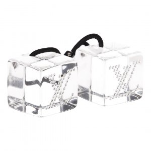 Louis Vuitton Haarband wit-lichtgrijs kunststof