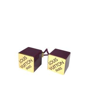 Louis Vuitton Haarwürfel Haargummi Haaraccessoires Farbe Violett Gold