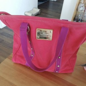 Louis Vuitton Handtasche ANTIGUA GM CABAS pink rot violett lila