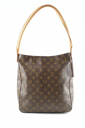 Louis Vuitton Handtasche braun-creme Allover-Druck Business-Look
