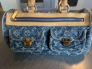 Louis Vuitton Borsetta azzurro-beige