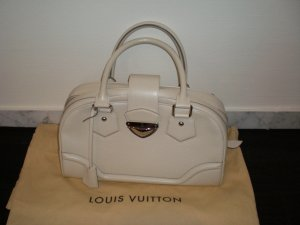 Louis Vuitton Bolsa beige claro Cuero