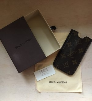 Louis Vuitton Custodia per cellulare marrone scuro-bronzo