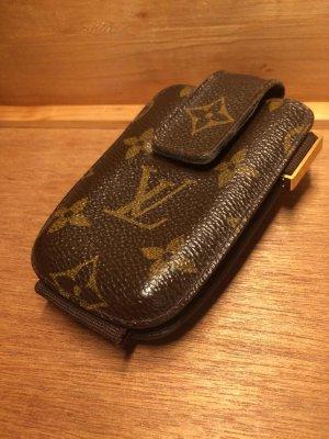 Louis Vuitton Hoesje voor mobiele telefoons goud-donkerbruin Linnen