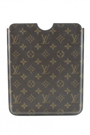Louis Vuitton Handytasche braun-beige Monogram-Muster Business-Look