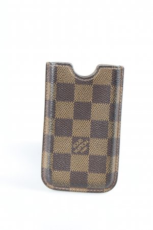 Louis Vuitton Mobile Phone Case dark brown-brown check pattern simple style