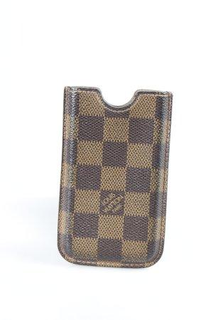 Louis Vuitton Handytasche dunkelbraun-braun Karomuster schlichter Stil