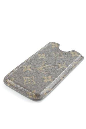 Louis Vuitton Hoesje voor mobiele telefoons donkerbruin-zandig bruin elegant