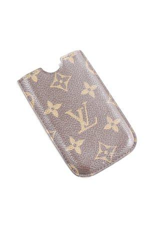 Louis Vuitton Custodia per cellulare sabbia-marrone scuro stampa integrale