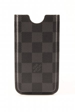 Louis Vuitton Handytasche schwarz-dunkelgrau Casual-Look