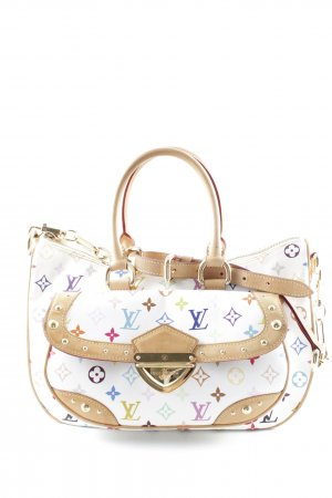Louis Vuitton Carry Bag natural white-camel monogram pattern Carabiner elements