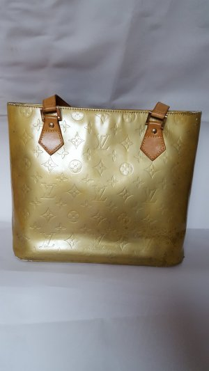 Louis Vuitton Carry Bag lime yellow leather