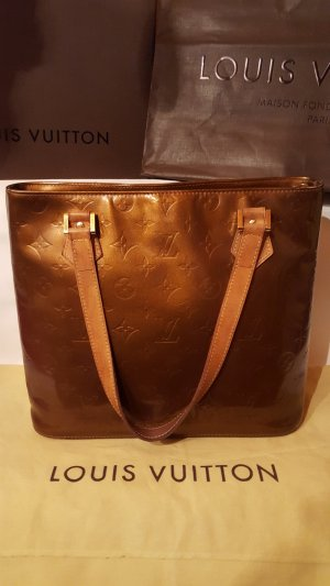 Louis Vuitton Carry Bag bronze-colored leather