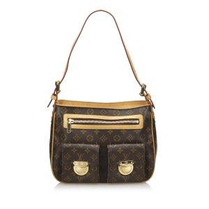 Louis Vuitton Bolsa de hombro marrón oscuro