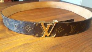 Louis Vuitton Cintura oro-marrone