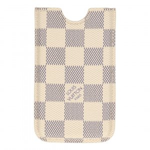 Louis Vuitton iPhone 4 Etui, Cover, Hülle, Case aus Damier Azur Canvas