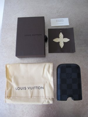 Louis Vuitton iPhone Case OVP 3G 4 4S Hülle Etui Damier Graphite mit Box