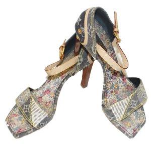 Louis Vuitton Hoge hakken sandalen blauw Katoen