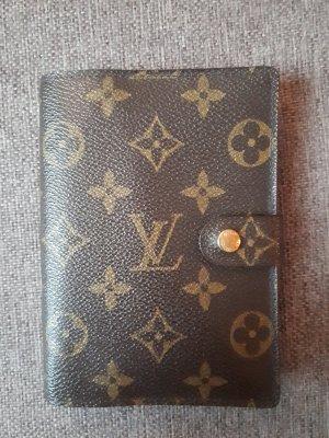 Louis Vuitton Kaartetui zwart bruin-brons Leer