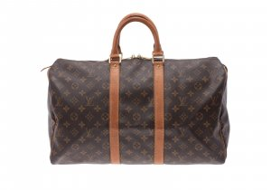 Louis Vuitton Bagaglio marrone Fibra tessile