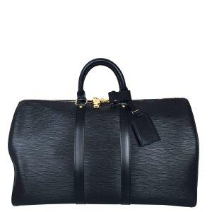 Louis Vuitton Keepall 45 aus Epi Leder in Kouril Schwarz Reisetasche Tasche
