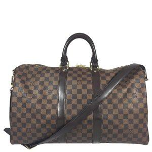 Louis Vuitton Keepall 45 Damier Ebene Canvas Reisetasche mit Schulterriemen
