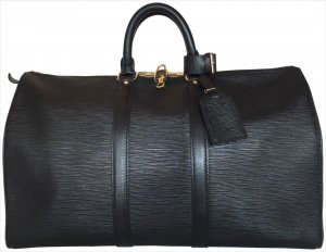 Louis Vuitton Travel Bag black-gold-colored leather