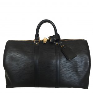 LOUIS VUITTON KEEPALL 45 REISETASCHE AUS EPI LEDER IN KOURIL SCHWARZ
