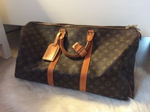 Louis Vuitton Borsa da viaggio marrone-nero-beige