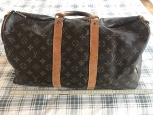 Louis Vuitton Borsa da viaggio marrone-crema