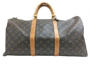 Louis Vuitton Equipaje marrón fibra textil