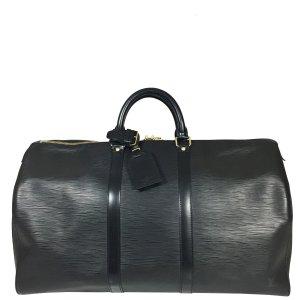 Louis Vuitton Keepall 50 Epi Leder Schwarz Reisetasche Tasche Weekender