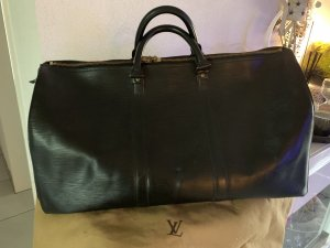 Louis Vuitton Keepall 50 Epi schwarz Leder
