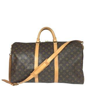 Louis Vuitton Keepall 50 Monogram Canvas Reisetasche mit Schulterriemen