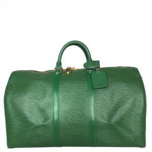 Louis Vuitton Travel Bag green-gold-colored