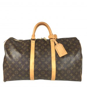 LOUIS VUITTON KEEPALL 50 REISETASCHE AUS MONOGRAM CANVAS