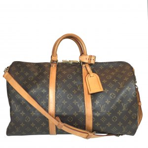 LOUIS VUITTON KEEPALL 50 REISETASCHE AUS MONOGRAM CANVAS MIT SCHULTERRIEMEN