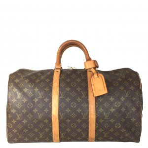 Louis Vuitton Keepall 50 Reisetasche Weekender Monogram Canvas Tasche