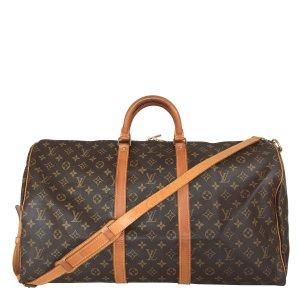 Louis Vuitton Keepall 55 Monogram Canvas mit Schulterriemen Reisetasche  Tasche