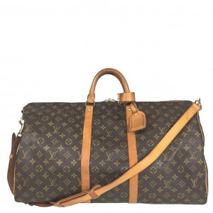 Louis Vuitton Keepall 55 Monogram Canvas Reisetasche mit Schulterriemen